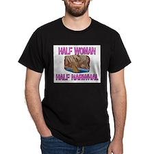 Half Woman Half Narwhal T-Shirt