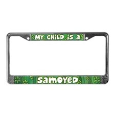 My Kid Samoyed License Plate Frame