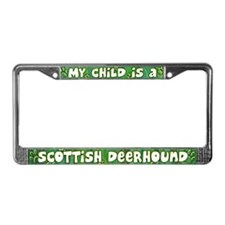 My Kid Scottish Deerhound License Plate Frame