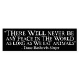 Never Be Peace - Wide Bumper Sticker (10 pk)