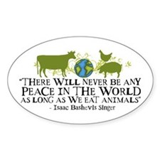 Never Be Peace - Wide Oval Sticker (10 pk)
