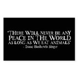 Never Be Peace - Wide Rectangle Decal
