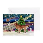 XmasStar/Nova Scotia dog Greeting Cards (Pk of 10)