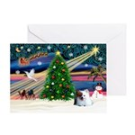XmasMagic/Pomeranian (RW) Greeting Card