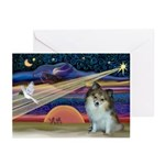 XmasStar/Pomeranian (SW) Greeting Cards (Pk of 10)