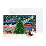 XmasMagic/Pom (prti) Greeting Cards (Pk of 20)