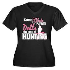 Real Girls Go Hunting Women's Plus Size V-Neck Dar