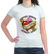 Epilepsy Tattoo Heart T