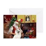 Santa's Samoyed Greeting Cards (Pk of 10)