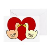 Kissing Ducks Greeting Card
