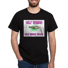 Half Woman Half Minke Whale T-Shirt