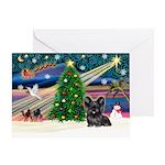 Xmas Magic & Skye Terrier Greeting Card