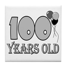 100th Birthday GRY Tile Coaster