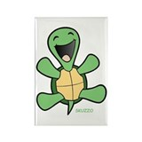 Skuzzo Happy Turtle Rectangle Magnet