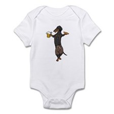 BT Lederhosen Doxie Infant Bodysuit