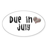 July Oval Sticker (10 pk)
