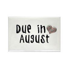 August Rectangle Magnet