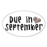 September Oval Sticker (10 pk)