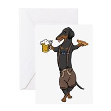 BT Lederhosen Doxie Greeting Card