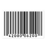 Bar Code Postcards (Package of 8)