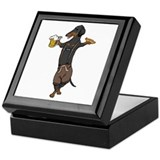 BT Lederhosen Doxie Keepsake Box