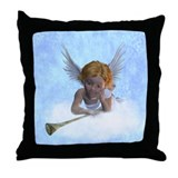 A sweet cherubic angel Throw Pillow