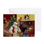 Santa's Wheaten (#7) Greeting Cards (Pk of 10)