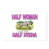 Half Woman Half Hyena Postcards (Package of 8)