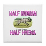 Half Woman Half Hyena Tile Coaster