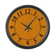 Rough Orange 04 Large Wall Clock