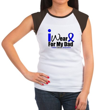 I Wear Blue For My Dad Women's Cap Sleeve T-Shirt
