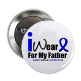 "I Wear Blue For My Father 2.25"" Button (10 pack)"