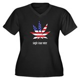 Single-Issue Voter Women's Plus Size V-Neck Dark T