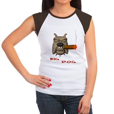 BIG DOG Women's Cap Sleeve T-Shirt