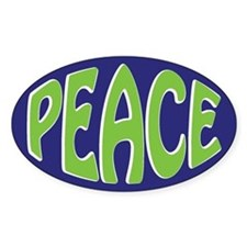 Oval Peace Oval Decal