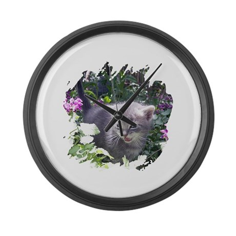 Flower Kitten Giant Clock