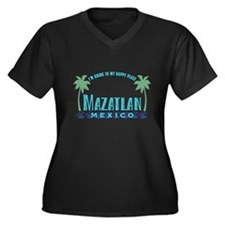 Mazatlan Happy Place - Women's Plus Size V-Neck Da