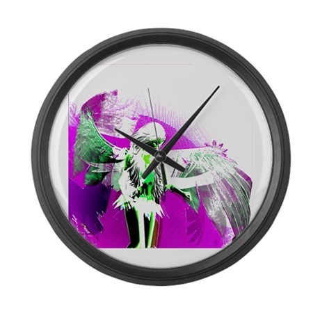 Purple Angel Art Giant Clock