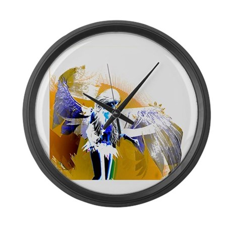 Golden Angel Art Giant Clock