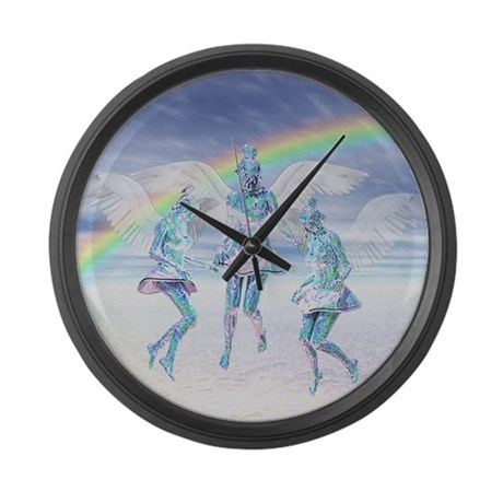 Angels and Rainbows Giant Clock