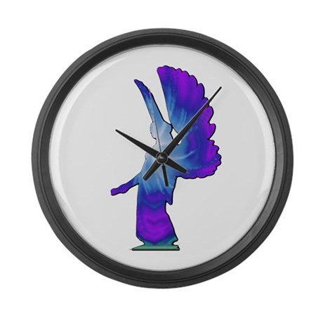 Blue Rainbow Angel Giant Clock