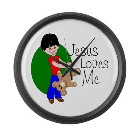 Jesus Loves Me Giant Clock