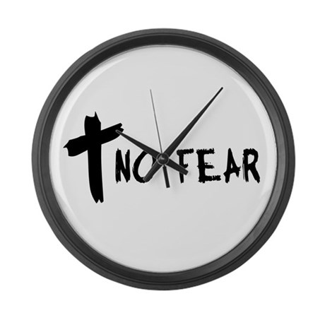 No Fear Cross Giant Clock