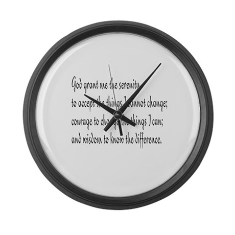 Serenity Prayer Giant Clock