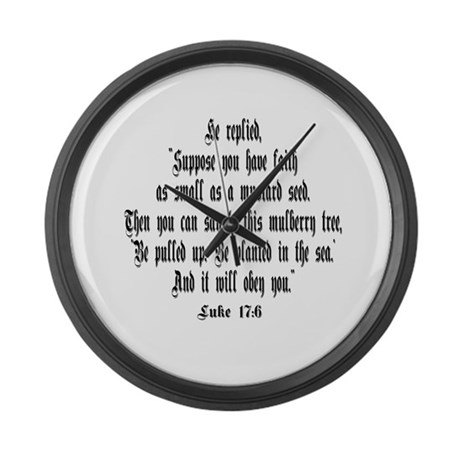 Luke 17:6 NIRV Giant Clock