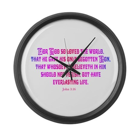 John 3:16 Rainbow II Giant Clock