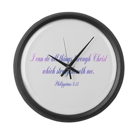 Philippians 4:13 Giant Clock
