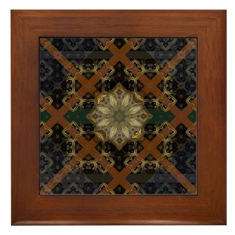 Floral Mystique Framed Tile