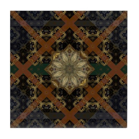 Floral Mystique Tile Coaster
