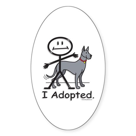 BusyBodies Great Dane (Blue) Oval Sticker